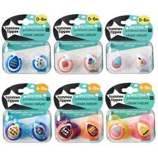 Tommee Tippee Soothers Dummy Pacifiers Any Time Closer to Nature 0-18m 2 Pack