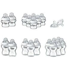 Tommee Tippee Baby Bottle Feeding Set Teats Closer to Nature 150ml or 260ml Pack