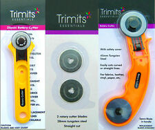 Impex / Trimits Essentials Roller Rotary Cutter Craft Sewing Quilting Fabric