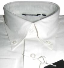 White Oxford Men's Long Sleeve Button Down Collar Shirt Mod Design  Relco Cotton