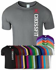 Crossfit New Mens Womens T Shirt Gym Bodybuilding Fitness Casual Tee Top T-Shirt