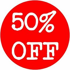 '50% off ' Sale Stickers Retail Sale *Large Quantity* -  *Free Postage*