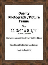 Photo Picture Frame Walnut 28mm Fit 13x18 13x19 13x20 13x21 13x22 13x23  PERSPEX