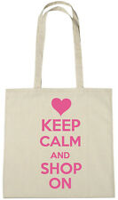 Keep Calm Shop On Bag, novelty stocking fillers gifts gift ideas for girls