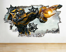 H020 Transformers Smashed Movie Boy Wall Decal Poster 3D Art Stickers Vinyl Room