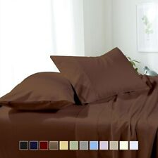 Royal Collection Super Soft Solid Sheets, Wrinkle-Free 100% Microfiber Sheet Set