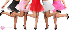 SHORT NET UNDERSKIRT TUTU 1950S ROCK N ROLL FANCY DRESS COSTUME ACCESSORY NETTED