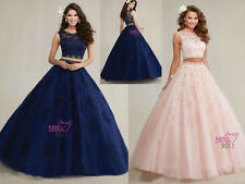 Bridesmaid Beaded Quinceanera Ball Gowns Formal Prom Dress Party Wedding Dresses
