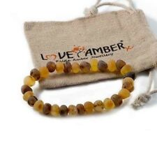 Love Amber X Uk Adult Pippin Raw Green And Honey Baltic Amber Stretch Bracelet