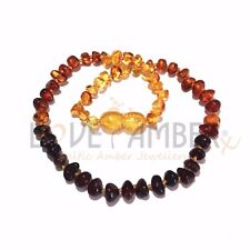 Adult Rainbow Bright Mixed Baltic Amber Anklet Love Amber x UK