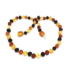 Adult Shingle Raw Mixed Baltic Amber Necklace Love Amber x UK BASED SELLER