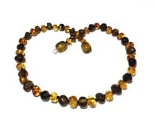 Child Bramley Polished Green And Honey Baltic Amber Necklace Love Amber x UK
