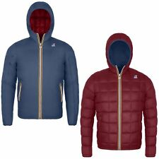 K-WAY JACQUES THERMO PLUS DOUBLE 360 € UOMO KWAY 2017 BLUE DEEP RED  K001K40 933