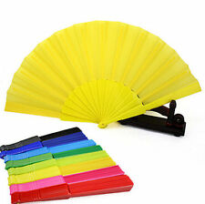 Hand Portable Japanese Fan Folding Plastic Party Wedding Chinese Dancing Decor
