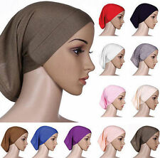 Head Scarf Underscarf Women Muslim Cover Islamic Hijab Cotton Bonnet Headwrap