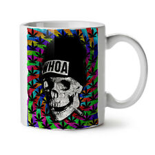 Skull Weed Cannabis Rasta NEW White Tea Coffee Mug 11 oz | Wellcoda