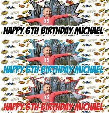 2 x PERSONALISED BIRTHDAY BANNER PHOTO 1st 18th 21st 30th 40th-any name age S