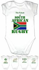 SOUTH AFRICAN RUGBY Baby Grow Gro Shirt S Africa Kit T Vest World Cup 5  DESIGNS