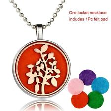 colgante aceite aromaterapia DIY Aromatherapy Oil Round Diffuser Locket Necklace