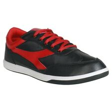 Unistar Black Red Canvas Shoes (6002-BlackRed)