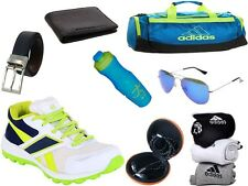 ABZ COMBO OF SHOES+GYM BAG+BELT+WALLET+SUNGLASSES+SOCKS+EARPHONES+SIPPERS-19