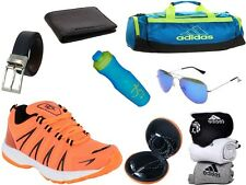 ABZ COMBO OF SHOES+GYM BAG+BELT+WALLET+SUNGLASSES+SOCKS+EARPHONES+SIPPERS-23