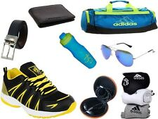 ABZ COMBO OF SHOES+GYM BAG+BELT+WALLET+SUNGLASSES+SOCKS+EARPHONES+SIPPERS-25