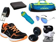 ABZ COMBO OF SHOES+GYM BAG+BELT+WALLET+SUNGLASSES+SOCKS+EARPHONES+SIPPERS-21