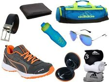 ABZ COMBO OF SHOES+GYM BAG+BELT+WALLET+SUNGLASSES+SOCKS+EARPHONES+SIPPERS-17