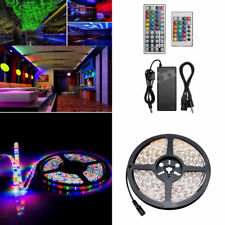 5M/10M 5050/3528 SMD Bande Ruban Flexible Lampe LED RGB +12V 6A Alimentation Kit