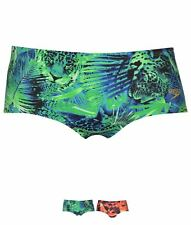 OCCASIONE Speedo 14cm Nuoto Briefs Uomo Green/Blue
