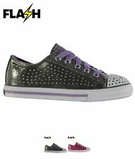 SALDI Skechers Twinkle Toes Pixie Shoes Child Girls Gun