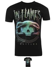 FASHION Official In Flames T Shirt Mens Battle Circle