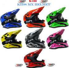 3GO K-188 Casco Bambini Moto Cross Quad Off road Scooter Kart Racing + occhiali