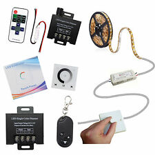 LED Single Color Dimmer Controller Wireless Remote RF Switch 5050 Strip Light