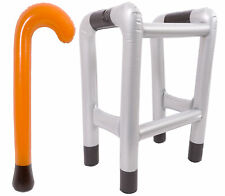 INFLATABLE WALKING FRAME OR STICK BLOW UP TOY NOVELTY OLD PEOPLE FANCY DRESS UP
