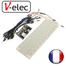 1195# MB102 830 Point Prototype PCB Breadboard + 65pcs Jump Cable Wires + Power