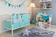6 PCS PIECE COT COTBED BEDDING NURSERY SET DUVET PILLOW BUMPER FILLING COT TIDY