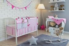 7 PCS PIECE COT COTBED BEDDING NURSERY SET DUVET PILLOW BUMPER FILLING BUNTING