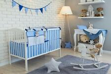 8 PCS PIECE COT COTBED BEDDING NURSERY SET DUVET PILLOW BUMPER FILLING BUNTING