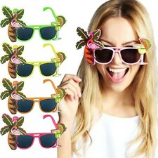 HAWAIANO GADGET FENICOTTERO Occhiali da sole Costume Carnevale BEACH PARTY