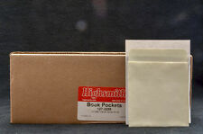 Plain Back Book Pockets- Low Back- Library Book Pockets- 500pk, New In Box.