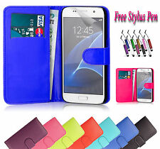 PU Magnetic Wallet Leather Case Cover Holder Stand For Samsung Galaxy S7 edge UK