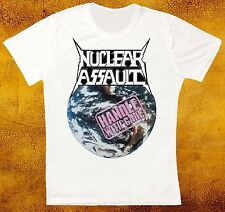 NUCLEAR ASSAULT HANDLE WITH CARE S.O.D. ANTHRAX TRASH METAL UNISEX T SHIRT 1005