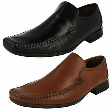 MENS CLARKS FERRO STEP SLIP ON FORMAL SMART WORK LEATHER LOAFERS SHOES SIZE