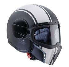Caberg Ghost Legend Black White Open Face Jet Motorcycle Scooter Helmet Mask