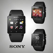 Unisex Branded Sony Water Protected Android Watch Black Smartwatch 2 LCD 1.6""