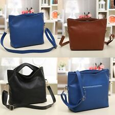 New Women Fashion Lady Leather Style Messenger Handbag Shoulder Bag Purse Tote