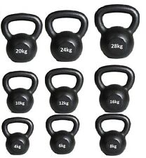 Kettlebells cast iron 4kg to 50kg home gym fitness exercise workout kettle bell