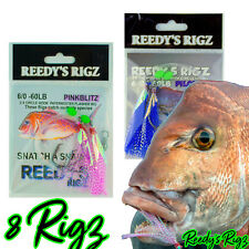 10 Snapper Rigs Snatchers Flasher Rig Hook 5/0 Paternoster Bait Flasher Rig